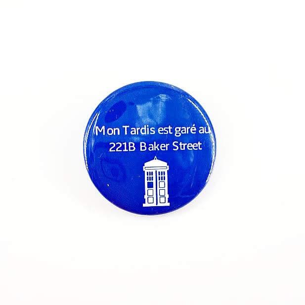 Badge : Tardis au 221B Baker Street