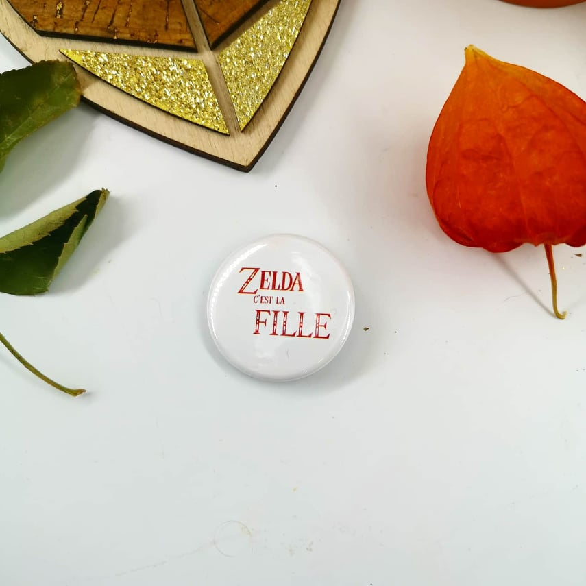 Badge : Zelda, c\'est la fille