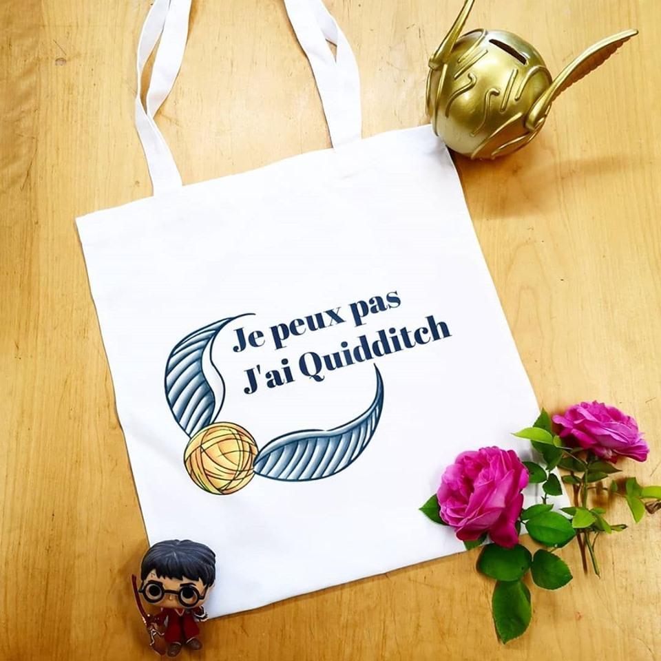 Tote-Bag : Je peux pas, j\'ai Quidditch