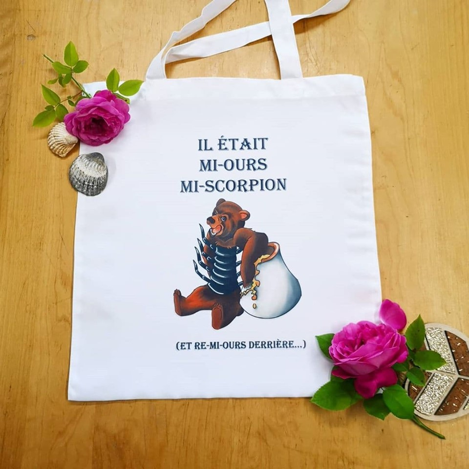 Tote-Bag : Mi-Ours Mi-Scorpion