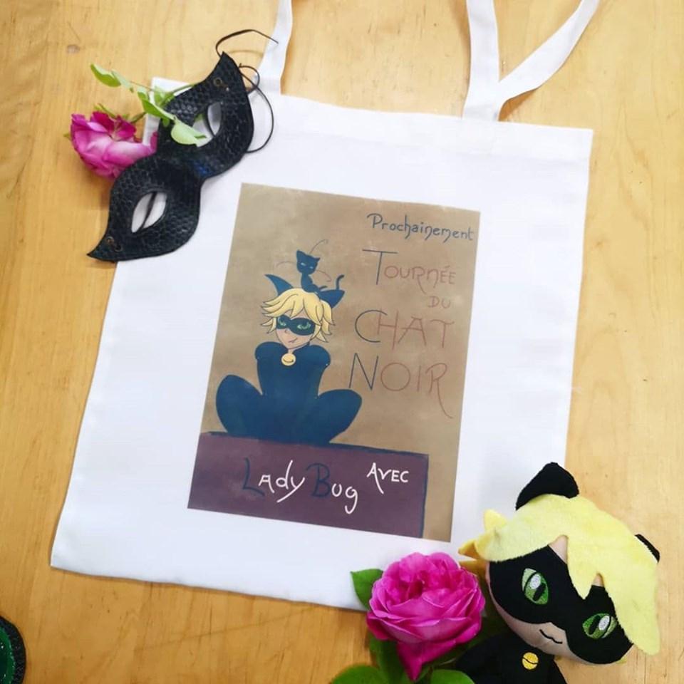 Tote-Bag : La Tournée du Chat Noir