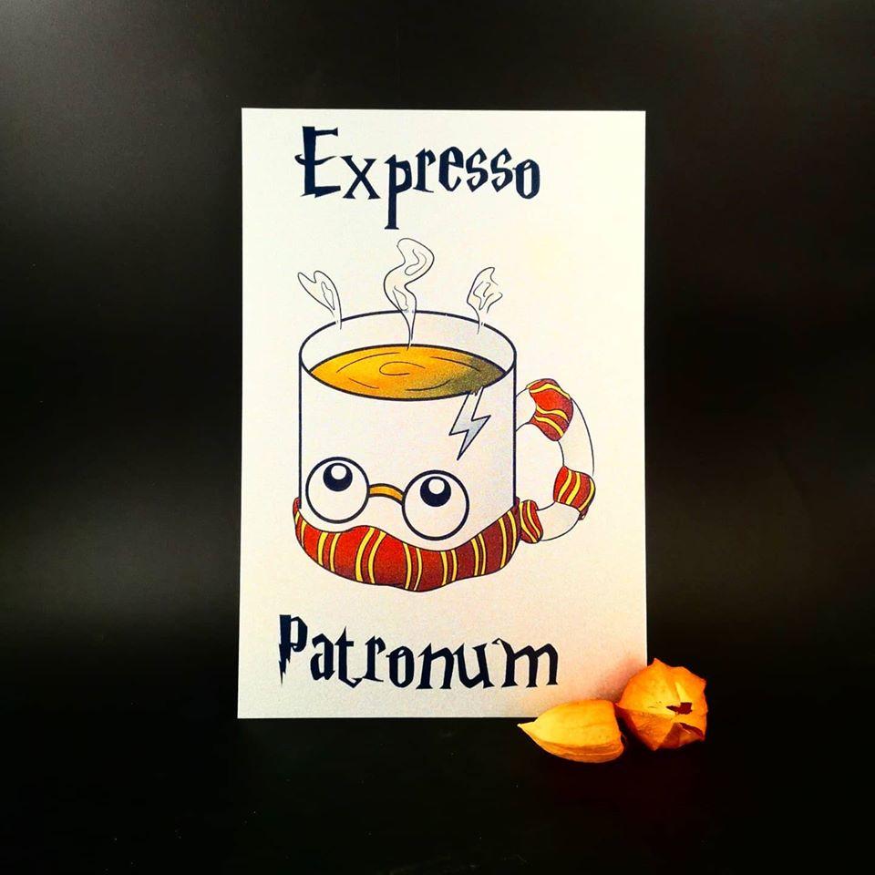 Plaque en métal : Expresso Patronum