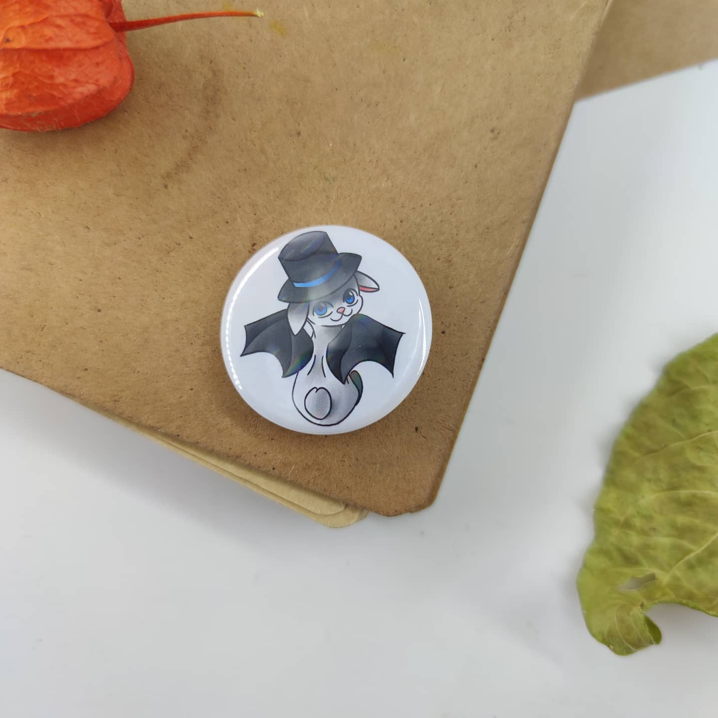 Badge holographique : Lapin vampire