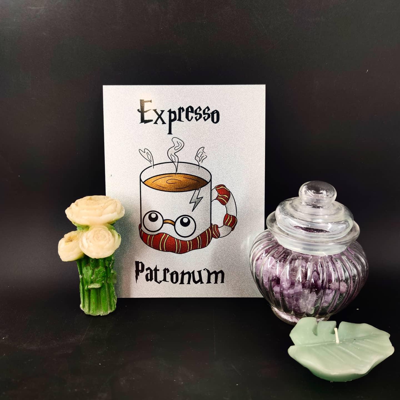 plaque en métal : Expresso Patronum (moyen)