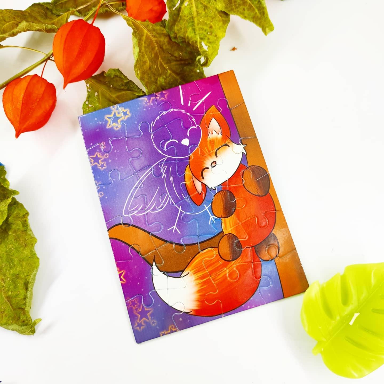 Puzzle : Petit renard et petit oiseau
