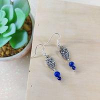 Boucles d'oreilles : Minerve (Lapis Lazuli véritable)