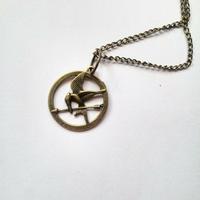 Collier : petit geai moqueur (bronze)