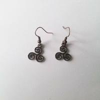 Boucles d'oreilles : Triskell