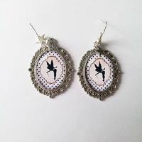 Boucles d'oreilles : Fée Clochette