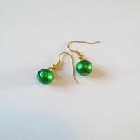Boucles d'oreilles : Grelot Vert