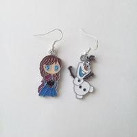 Boucles d'oreilles : Anna et Olaf