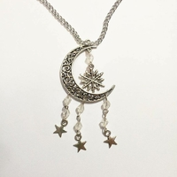 Collier : flocon dans la lune