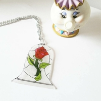 Collier : Rose enchantée