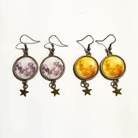 Boucles d'oreilles : Lune