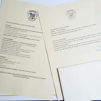 Lettre d'admission Poudlard
