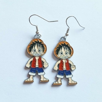 Boucles d'oreilles : Luffy