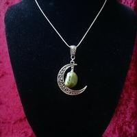 ☆ Collier dans la Lune ☆ Jade véritable.