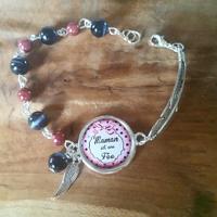 Bracelet cabochon : maman est une fée