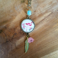 Collier : Flamant Rose