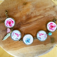 Bracelet : Flamant Rose