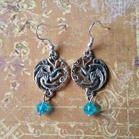 Boucles d'oreilles : Targaryen (Bleue)