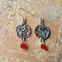 Boucles d'oreilles : Targaryen (Rouge)