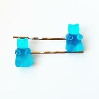 Barrette : Ourson Bleu