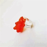 Bague : Ourson Orange
