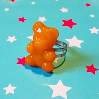 Bague : Oursons orange