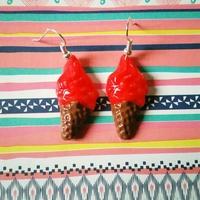 Boucles d'oreilles : glace à l'italienne