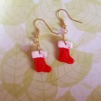 Boucles d'oreilles : Chaussette de Noël