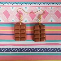 Boucles d'oreilles : Chocolat