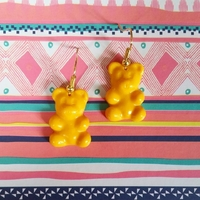 Boucles d'oreilles : Oursons jaunes