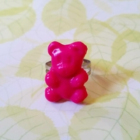 bague ourson rose