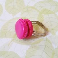 Bague : Macaron rose et violet