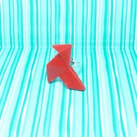 Bague origami : Cocotte rouge