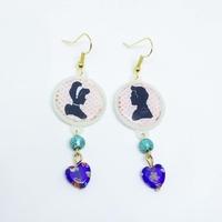 Boucles d'oreilles : Cendrillon et le Prince