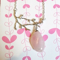 ☆ Collier elfique ☆ Quartz Rose véritable.