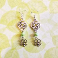 Boucles d'oreilles : Trèfle celtique