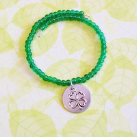 bracelet : Trèfle porte bonheur