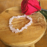 Bracelet : Quartz Rose