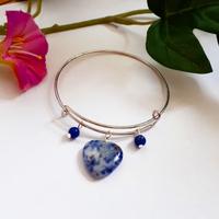 Bracelet : Deirdre (Sodalite et Lapis Lazuli)
