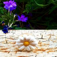 Bague : Fleur (Blanche)