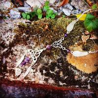 Collier Celtique : Minerve, améthyste véritable