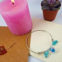 Bracelet : Rêverie bleuté