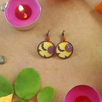 Boucles d'oreilles : Nuit d'Halloween