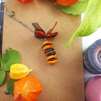 Collier : Petits macarons d'Automne