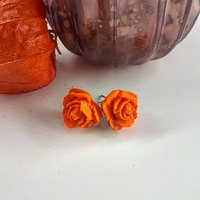 Boucles d'oreilles : Rose (Orange)