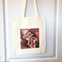 Tote-bag : Le chat et la coccinelle