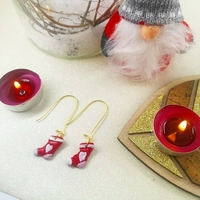 Boucles d'oreilles : Chaussette de Noel